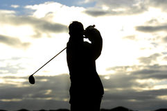 Golf sunrise 03 Stock Images