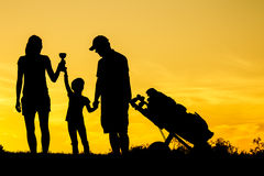 Golf Sunset Silhouette Royalty Free Stock Image