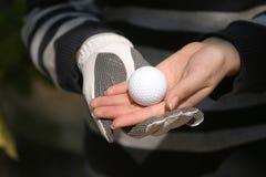 Golf sur la main Photographie stock libre de droits