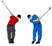 Golf swing. Illustration of a Golf swing Royalty Free Stock Image