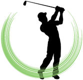 Golf Swing. An illustration of a golfer swinging his club Royalty Free Stock Photos