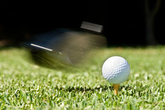 Golf swing Royalty Free Stock Images