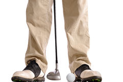 Golf swing Stock Image