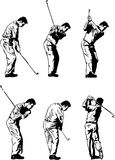 Golf Swing Illustrations stock photography