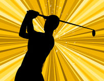 Golf Swing Indicates Golf-Club Exercise And Golfing Royalty Free Stock Images