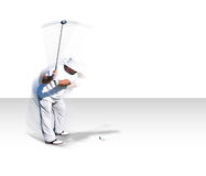 Golf swing in motion (w/ clip path) Stock Images