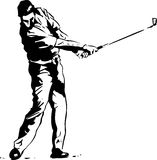 The Golf Swing Pose Royalty Free Stock Images