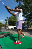 Golf Swing at the Range Royalty Free Stock Photos
