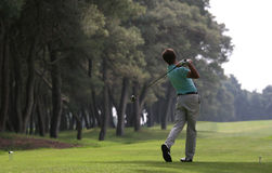 Golf swing in riva dei tessali Royalty Free Stock Images