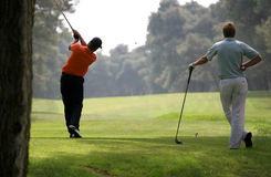 Golf swing in riva dei tessali. Golf course, italy Royalty Free Stock Image