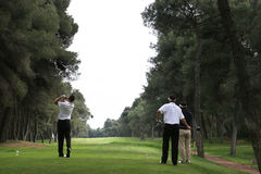 Golf swing in riva dei tessali stock image