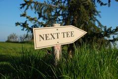 Golf - T seguente Immagine Stock