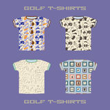 Golf t-shirt template vector illustration Stock Photo