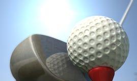 Golf-T-Stück worms Ansicht Stockfoto