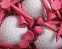 Golf-T-Stücke Lizenzfreies Stockfoto