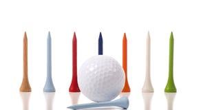 Golf-T-Stücke Stockbilder