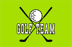 Golf Team Label stock illustratie