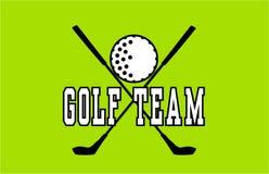 Golf Team Label Fotografie Stock