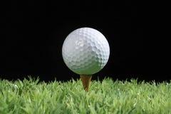Golf on tee. Golf ball on tee.studio shot Stock Image