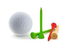 Golf Tee. Golf Ball and Tee on white background royalty free stock image