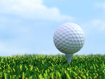 Golf on tee Royalty Free Stock Photos