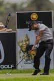 Golf Tee Box Pro Swing. 1st European Tournament 2013 Year at Royal Durban Golf Club. Pablo Larrazabal from Spain striking golf ball at ninth tee box Stock Photography