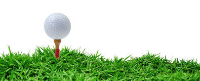 Golf tee off Royalty Free Stock Photography