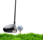 Golf tee off Stock Image