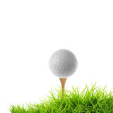 Golf tee off Stock Photos