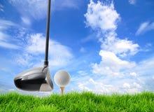 Golf tee off Stock Photo
