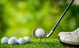 Golf tee off Stock Images