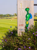 Golf tee off. The image of tee off in golfcourse royalty free stock photos