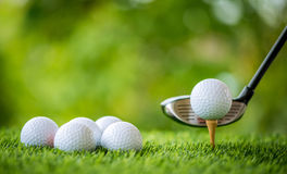 Golf tee off Stock Photos
