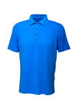 Golf tee shirt blue color for man or woman stock photography