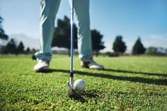 Golf tee shot Royalty Free Stock Images
