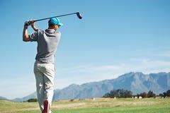 Golf tee shot Stock Photography