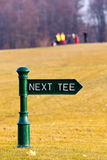 Golf Tee Signs Stock Image