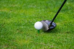 Golf teeing Stock Image