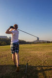 Golf Teenager Driver Practice Range Stock Photography