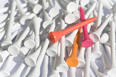 Golf tees Royalty Free Stock Images