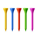Golf tees Royalty Free Stock Photos