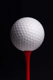 Golf tees and ball Stock Photos
