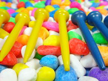 Golf tees Royalty Free Stock Photography