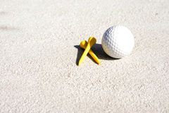 Golf Tees and ball Royalty Free Stock Images