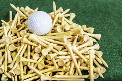 Golf Tees and Balls Royalty Free Stock Photos