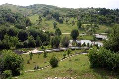 Golf terrain. The view of Lac de Verde golf terrain stock images
