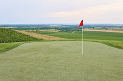 Golf terrain. Golf terrain with beautiful view Royalty Free Stock Photo