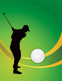 Golf Theme Background Illustration Royalty Free Stock Image