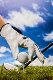 Golf theme with sport stuff Royalty Free Stock Image