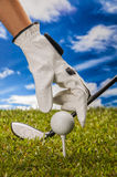 Golf theme with sport stuff Royalty Free Stock Photos